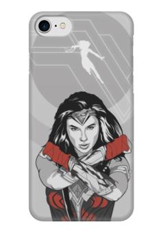 "Чехол для iPhone 7 глянцевый ""Чудо-Женщина (Wonder Woman)"" - dc comics, чудо-женщина, justice league, лига справедливости"