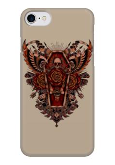"Чехол для iPhone 7 глянцевый ""Coffin Art"" - skull, череп, гроб, coffin, арт дизайн"
