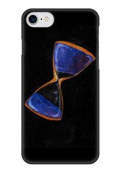 """Чехол для iPhone 7 глянцевый """"Space and time"""" - космос, звезды, песочные часы, часы, space"""
