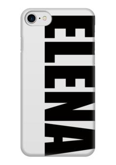 """Чехол для iPhone 7 глянцевый """"с именем Елена"""" - чехол с именем, чехол с именем елена, елена"""