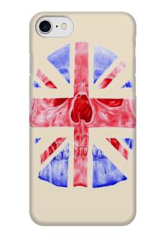 "Чехол для iPhone 7 глянцевый ""Skull Art"" - skull, череп, англия, british flag, британский флаг"
