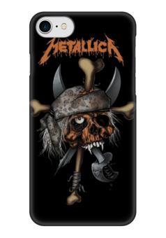 "Чехол для iPhone 7 глянцевый ""Metallica"" - heavy metal, metallica, рок музыка, металлика, thrash metal"