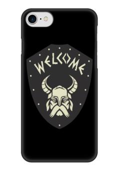 """Чехол для iPhone 7 глянцевый """"Викинги"""" - история, викинги, путь воина"""