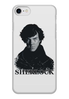 "Чехол для iPhone 7 глянцевый ""Шерлок Холмс (SHERLOCK)"" - sherlock, шерлок холмс, бенедикт камбербэтч, сериал sherlock, сериал шерлок холмс"