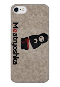 "Чехол для iPhone 7 глянцевый ""Матрёшка"" - юмор, чёрный юмор, матрёшка, matryoshka, арт прикол"