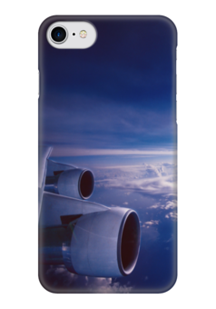 """Чехол для iPhone 7 глянцевый """"Самолет"""" - небо, самолеты, красивое небо, вид из самолета, самолет"""