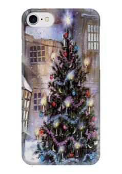 """Чехол для iPhone 7 глянцевый """"елочка"""" - новый год, ёлочка, new year, ёлка, christmas tree"""