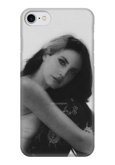 """Чехол для iPhone 7 глянцевый """"Lana Del Rey"""" - lana del rey, lana, cherry, лана, лана дель рей"""