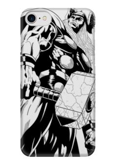 """Чехол для iPhone 7 глянцевый """"Тор  """" - комиксы, мстители, avengers, марвел, thor"""