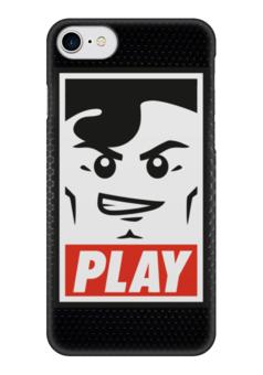 """Чехол для iPhone 7 глянцевый """"Lego Play """" - lego, игрок, play, лего, играй"""