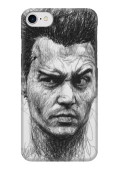 "Чехол для iPhone 7 глянцевый ""Johnny Depp"" - арт, кино, актер, иллюстрация, джонни депп"