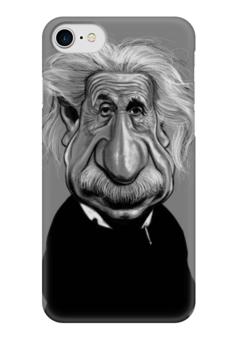 "Чехол для iPhone 7 глянцевый ""ЭЙНШТЕЙН"" - арт, карикатура, энштейн"