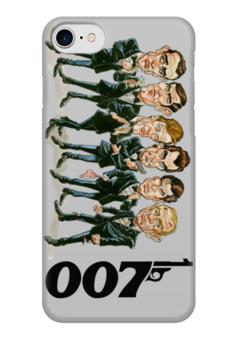 "Чехол для iPhone 7 глянцевый ""James Bond"" - 007, james bond, агент 007, актёр, джеймс бонд"