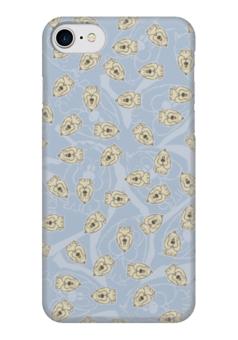 """Чехол для iPhone 7 глянцевый """"Собачки"""" - dog, голубой, рисунок, собака, собачка"""