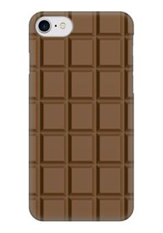 "Чехол для iPhone 7 глянцевый ""Шоколадка"" - сладкое, шоколад, плитка, вкусняшка"
