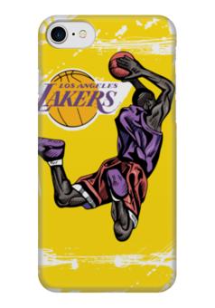 "Чехол для iPhone 7 глянцевый ""Los Angeles Lakers "" - баскетбол, la, нба, los angeles lakers, лос-анджелес лейкерс"