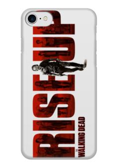 """Чехол для iPhone 7 глянцевый """"Ходячие мертвецы / The Walking Dead"""" - комикс, рисунок, кино, сериал, зомби"""
