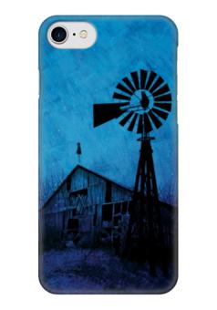 "Чехол для iPhone 7 глянцевый ""Мельница"" - апокалипсис, ночь, мельница, mill"