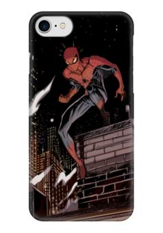 "Чехол для iPhone 7 глянцевый ""Человек-паук (Spider-man)"" - комиксы, spider-man, марвел, человек-паук, питер паркер"