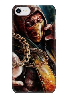 "Чехол для iPhone 7 глянцевый ""Скорпион (Мортал Комбат)"" - скорпион, mortal kombat, мортал комбат, scorpion, мк"