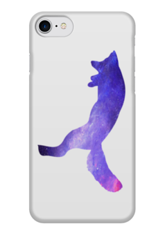"Чехол для iPhone 7 глянцевый ""Space animals"" - space, космос, fox, лиса, астрономия"