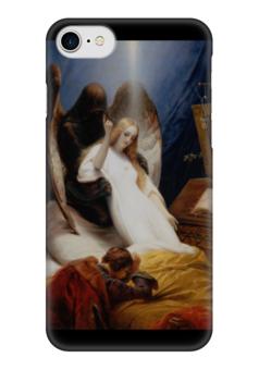 "Чехол для iPhone 7 глянцевый ""Ангел Смерти (Орас Верне)"" - картина, ангел, верне"