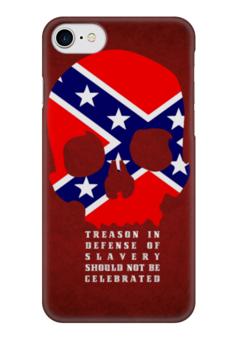 "Чехол для iPhone 7 глянцевый ""Флаг Конфедерации США"" - череп, америка, флаг, сша, флаг конфедерации"