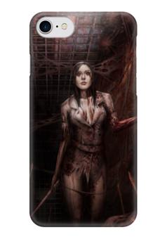 """Чехол для iPhone 7 глянцевый """"Хоррор"""" - арт, девушка, игры, ужастик, хоррор"""