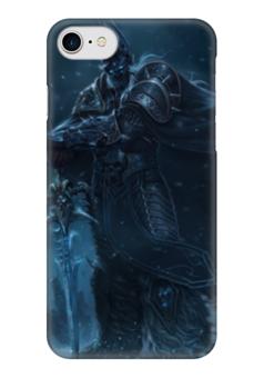 """Чехол для iPhone 7 глянцевый """"Король Лич"""" - война, warcraft, world of warcraft, варкрафт, орки"""