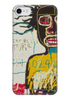"""Чехол для iPhone 7 глянцевый """"Basquiat"""" - граффити, корона, basquiat, баския, жан-мишель баския"""