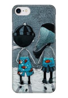 """Чехол для iPhone 7 глянцевый """"Любовь"""" - любовь, день святого валентина, дети, семья, влюбленные"""