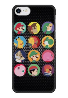 """Чехол для iPhone 7 глянцевый """"Все герои Nintendo!"""" - nintendo, mario, марио, зельда, donkey kong"""