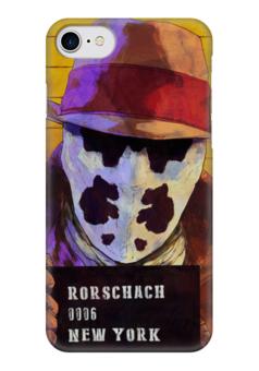 """Чехол для iPhone 7 глянцевый """"Роршах"""" - комиксы, хранители, watchmen, rorschach, dc comics"""