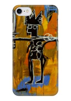 """Чехол для iPhone 7 глянцевый """"Basquiat"""" - любовь, граффити, корона, basquiat, баския"""