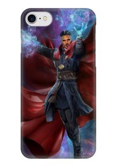 """Чехол для iPhone 7 глянцевый """"Доктор Стрэндж"""" - комиксы, doctor, марвел, dr strange"""