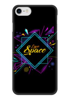 """Чехол для iPhone 7 глянцевый """"Love Space"""" - звезды, космос, вселенная"""