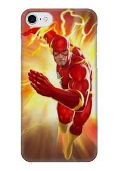 "Чехол для iPhone 7 глянцевый ""Флэш (The Flash)"" - comics, flash, молния, супергерой, dc"