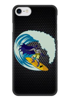 "Чехол для iPhone 7 глянцевый ""Бэтмен на Сёрфе"" - batman, бэтмен, доска, серфинг"