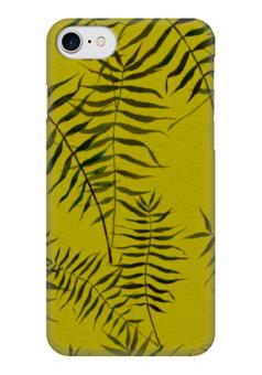 """Чехол для iPhone 7 глянцевый """"Ботаника"""" - лето, зеленый, ботаника"""