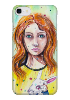 """Чехол для iPhone 7 глянцевый """"Остара"""" - женскийобраз, богиня, творчество, белыйкролик, магия"""