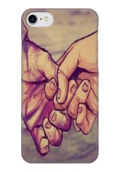 """Чехол для iPhone 7 глянцевый """"couple"""" - любовь, love, пара"""