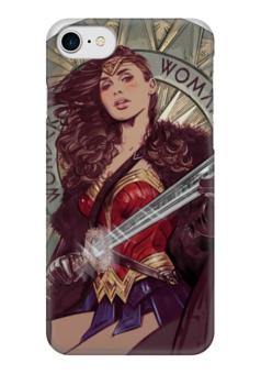 """Чехол для iPhone 7 глянцевый """"Чудо-Женщина (Wonder Woman)"""" - комиксы, dc comics, чудо-женщина, wonder woman"""