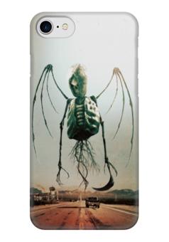"""Чехол для iPhone 7 глянцевый """"Монстры Юга"""" - череп, рок, скелет, смерть, ужасы"""