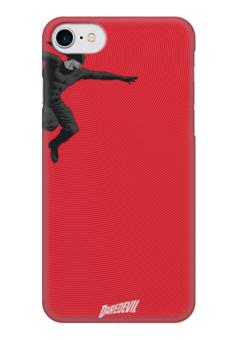"Чехол для iPhone 7 глянцевый ""Сорвиголова"" - комиксы, марвел, дардевил, daredevil, сорвиголова"