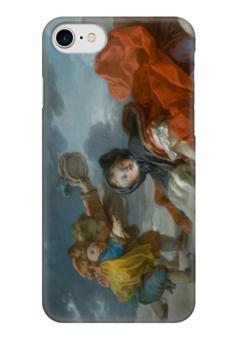 """Чехол для iPhone 7 глянцевый """"Зима (Картина Фрагонара)"""" - картина, фрагонар"""