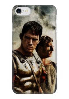 """Чехол для iPhone 7 глянцевый """"Орел IX легоина"""" - история, легион, римляне, путь воина, гесс"""