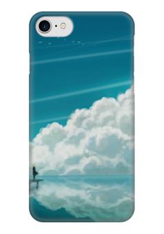 """Чехол для iPhone 7 глянцевый """"Облака"""" - мультфильм, аниме, небо, облака, иллюстрация"""