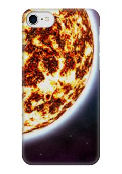 """Чехол для iPhone 7 глянцевый """"Солнце"""" - космос, наука, прогресс, денис гесс, the spaceway"""