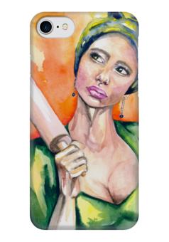 """Чехол для iPhone 7 глянцевый """"Богиня Гера"""" - женскийобраз, магия, творчество, богиня"""