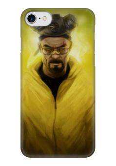 "Чехол для iPhone 7 глянцевый ""хайзенберг"" - сериалы, фильмы, во все тяжкие, breaking bad, мистер хайзенберг"